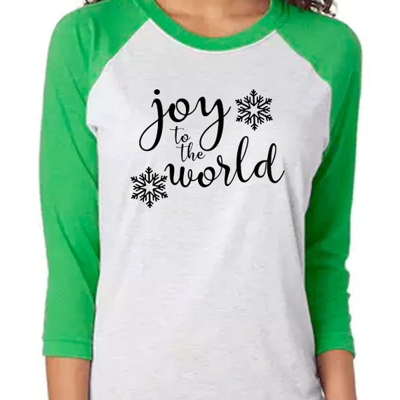 Joy to the World Christmas Carol Shirt, Christian Shirt, Christmas Shirt, Christmas Eve shirt