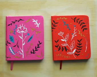 Handpainted pocket notebook
