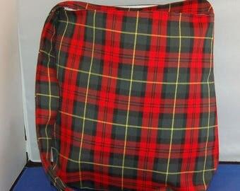 Women's Tartan Shoulder Bag Large Hipster Bag Handmade
