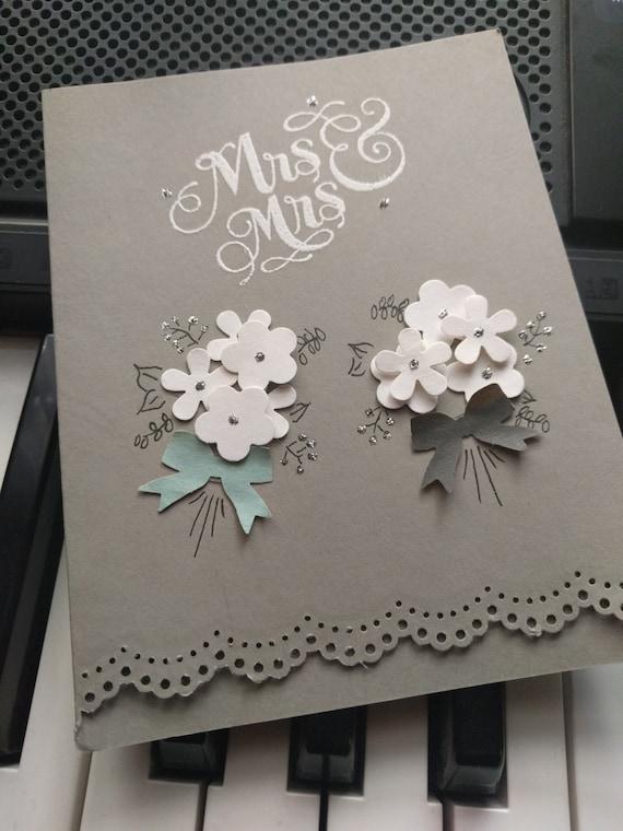 Mrs. & Mrs. Wedding Card Blank Inside