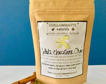 Australian Loose Leaf White Chocolate Chai - Collombatti Naturals - Black Tea - Wonderful Birthday, Christmas, Mother's or Father's Day gift
