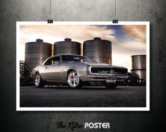 Chevrolet Camaro SS, 1968 - Camaro, Chevy, Car Art, Car Decor, American Classic Car, Automotive, Automobile, Automobilia, Office, Tourism