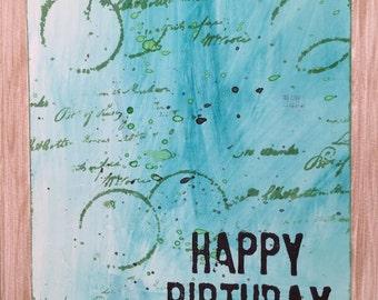 Happy Birthday Card//Art Card//Handmade Card