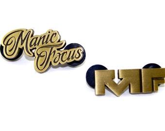 Official Manic Focus Pin Set in Gold - EDM Bass Electronic Dance Music Festival