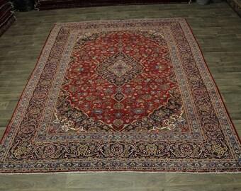 Hot Deal Semi Antique Traditional Kashan Persian Rug Oriental Area Carpet 9X12