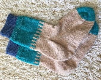 Handmade Knitted Socks Size 7-9