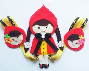 little red riding hood Hair Clip Holder , hair clip organizer