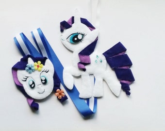 My Little Pony Hair Clip Holder (White) , hair clip organizer