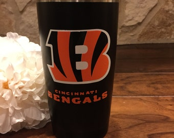 Cincinnati Bengals Personalized Double Wall Insulated Yeti-Like Stainless Steel Tumbler