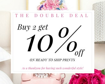 DISCOUNT COUPON - Buy 2 get 10% off. The Double Deal - Please Do Not Purchase This Item