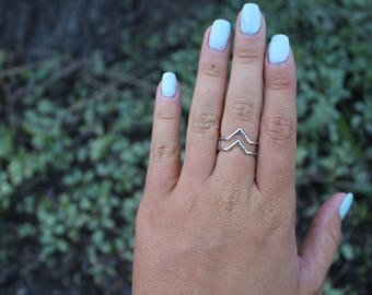 Double V shaped ring