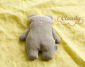 Organic Linen toy Baby Toddler Infant Kids Children toy Buckwheat toy Teddy Bear Christmas Present Christmas gift ideas Baby shower gift