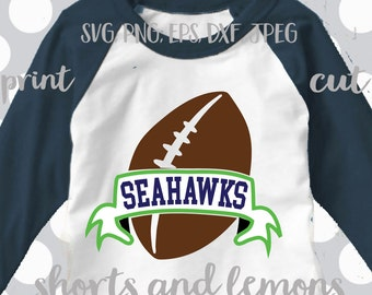 Seahawks svg, dxf, png, eps, Seahawks vector, Seahawks, Football svg, Football silhouette file, svg, Clip art, Seahawks shirt design