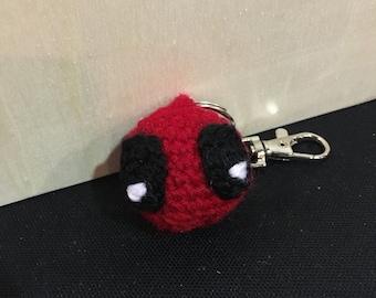 Crochet Deapool keyring