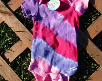 Girly Striped Tie Dye (0-3 months)