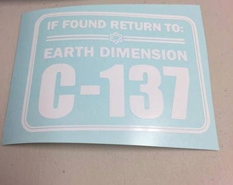 IF FOUND RETURN - Funny car/macbook/laptop decal - 5.5 inches wide by 4.1 inches tall - Rick and Morty decal - Funny