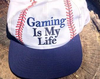 "NWT Vintage MGM Grand Sports ""Gaming Is My Life"" Snapback Hat Las Vegas"