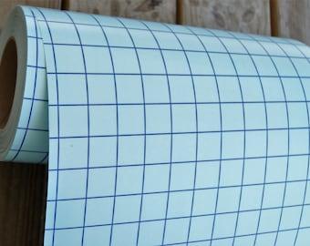 "Blue-Line Clear Transfer Tape 12"" x 12"" Sheet 1"" Grid Pattern Medium Tack"