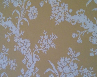 Vintage French wallpaper by the yard.