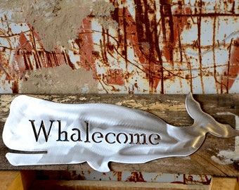 Whalecome Whale on Wood