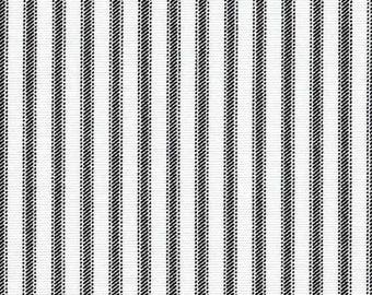 Black and White Ticking Stripe Table Runner Country Farmhouse Home Decor Table Centerpiece Linens Vintage Dining Room Kitchen