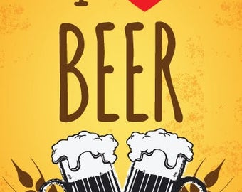 I Love Beer Funny Card and Gift Pack