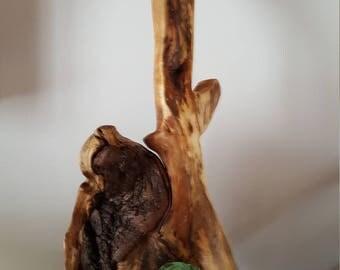 sculpture guitare bois flotté