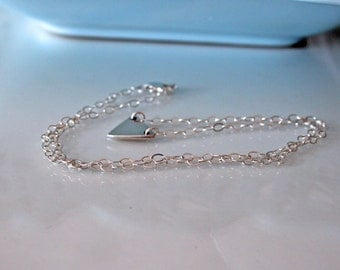Dainty triangle sterling silver necklace