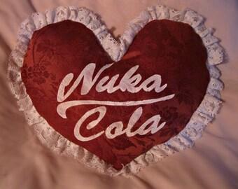 Fallout Nuka Cola World Heart Pillow