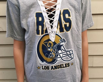 LF Inspired LA Rams NFL Lace Up T shirt
