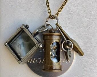 "Bronze 24"" Charm Necklace"