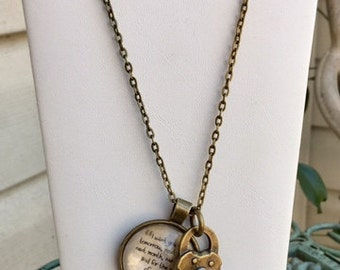 I Want You Love Charm Necklace 24""
