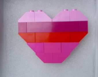 Candy Lego Heart Brooch