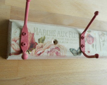 shabby chic pretty coat hooks distressed paint effects