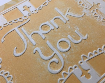 Cheery Embossed Thank You Card