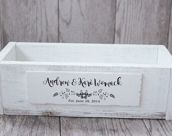 Wedding Planter Box - Personalized Wedding Planter - Rustic Box - Wedding Centerpiece