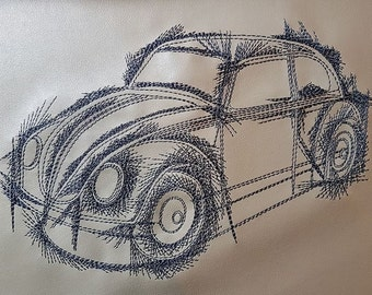 Sotis embroidery file car for the frame size 16x26cm