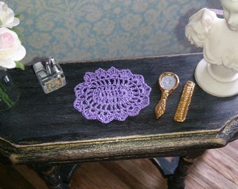 Miniature chrochet doily