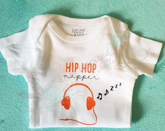Hip hop bodysuit, baby boy outfit, coming home outfit, baby shower gift, new mom gift , baby girl outfit, trendy baby