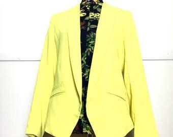 80s Yellow Longline Blazer