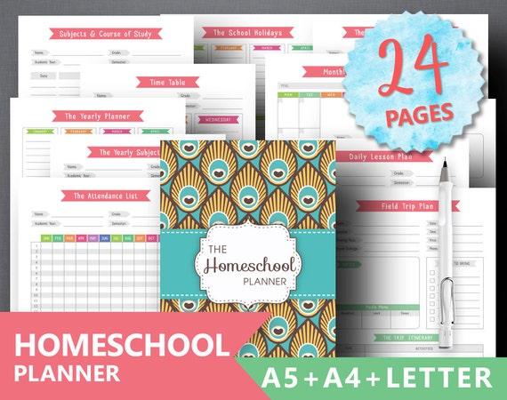 Homeschool Planner Printable: TEACHER PLANNER