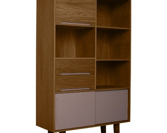 Gloucester Walnut Bookcase Grey