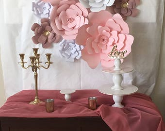 Paper Flowers Set of 10