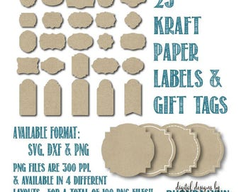 SALE! Tags SVG | Labels svg | Gift Tags svg | Tags Cut Files | Labels Cut Files | Kraft Paper Labels PNG | Kraft Paper Tags png