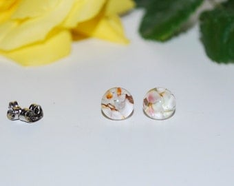 Desert Flowers Glass Stud Earrings