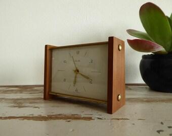 Mauthe fantastic Jasper clock teak vodka alarm clock each clock 60s