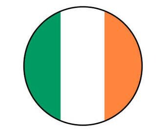 "Flag Of Ireland 1"" pinback button"