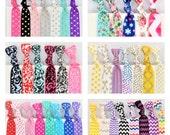 100 Elastic Hair Ties, GRAB BAG, Handmade Hair Ties, Trendy Ponytail Holders, Knotted Hair Ties, Yoga Hair Ties, Hair Bands, Wristband