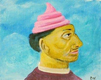 Man with Ice Cream Hat