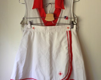 Vintage wrap around tennis skirt, top and knickers